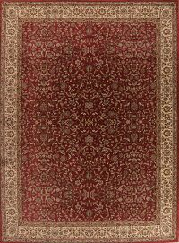 Traditional Red Floral Kashan Turkish Large Rug 11x15