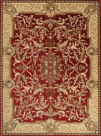 Tuscan Red Aubusson Turkish Area Rug 9x13