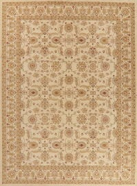 All-Over Beige Agra Turkish Oriental Area Rug 9x12