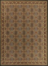 Diamond Design Black Aubusson Turkish Area Rug 9x13