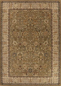 All-Over Green Agra Turkish Area Rug 8x11