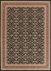 All-Over Black Aubusson Oriental Area Rug 8x11