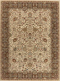 All-Over Ivory Tabriz Oriental Area Rug 8x11