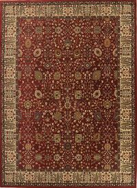 All-Over Red Agra Turkish Area Rug 9x13