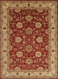 Floral Red Mahal Style Turkish Area Rug 8x11