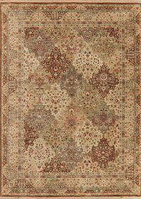 All-Over Floral Bakhtiari Turkish Area Rug 8x11