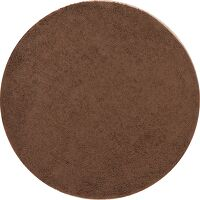 Brown Solid Shaggy Oriental Area Rug 7x7 Round