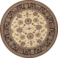 Floral Agra Oriental Area Rug 5x5 Round