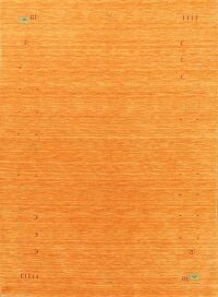 Orange Modern Gabbeh Oriental Area Rug 6x8