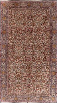 Antique Large Kerman Lavar Persian Area Rug Wool 11x19