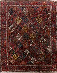 Antique Vegetable Dye Bakhtiari Persian Area Rug 13x16 Large