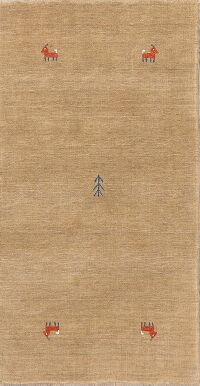 Contemporary Gabbeh Oriental Area Rug 2x5
