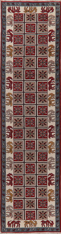 Animal Pictorial Indian Runner Rug 3x12