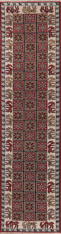 Animal Pictorial Oriental Runner Rug 3x12