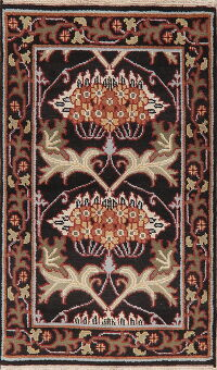 Art & Craft Black Oriental Area Rug 3x5