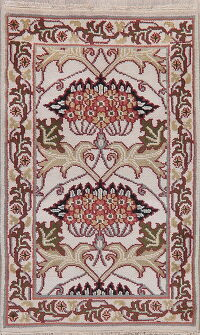 Floral Art & Craft Oriental Area Rug 3x5