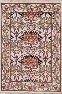 Floral Art & Craft Oriental Area Rug 4x6