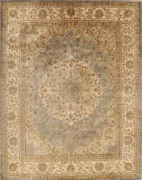 Grey Floral Aubusson Oriental Area Rug 8x10