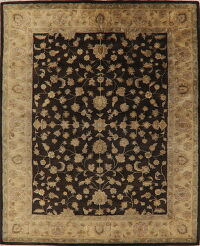 All-Over Floral Charcoal Agra Oriental Area Rug 8x10