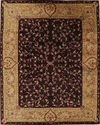 All-Over Floral Dark Maroon Agra Oriental Area Rug 8x10