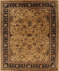 All-Over Gold Floral Agra Oriental Area Rug 8x10