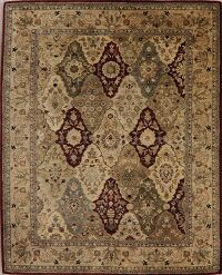 Multi-Colored Floral Agra Oriental Area Rug 8x10