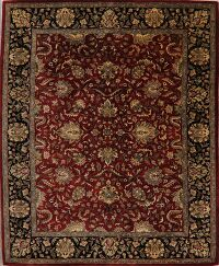 All-Over Red Floral Agra Oriental Area Rug 8x10