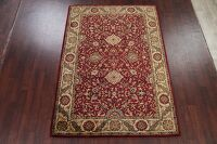 Floral Red Agra Oriental Area Rug 6x8