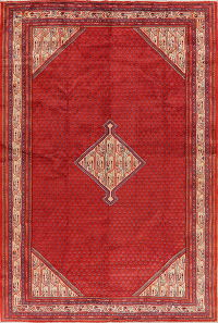 Geometric Red Botemir Persian Area Rug 8x12