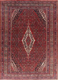 Red Geometric Hamedan Persian Area Rug 9x12