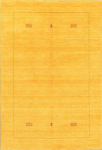 Yellow Contemporary Gabbeh Oriental Area Rug 4x6