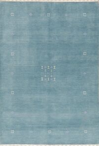 Contemporary Blue Gabbeh Modern Oriental Area Rug 5x7