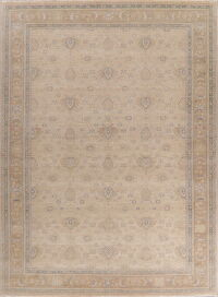 Vegetable Dye Antique Floral Oushak Turkish Area Rug 10x14