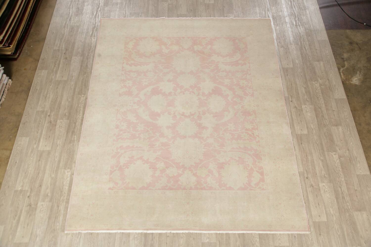 Antique Muted Floral Oushak Turkish Area Rug 8x10 image 2