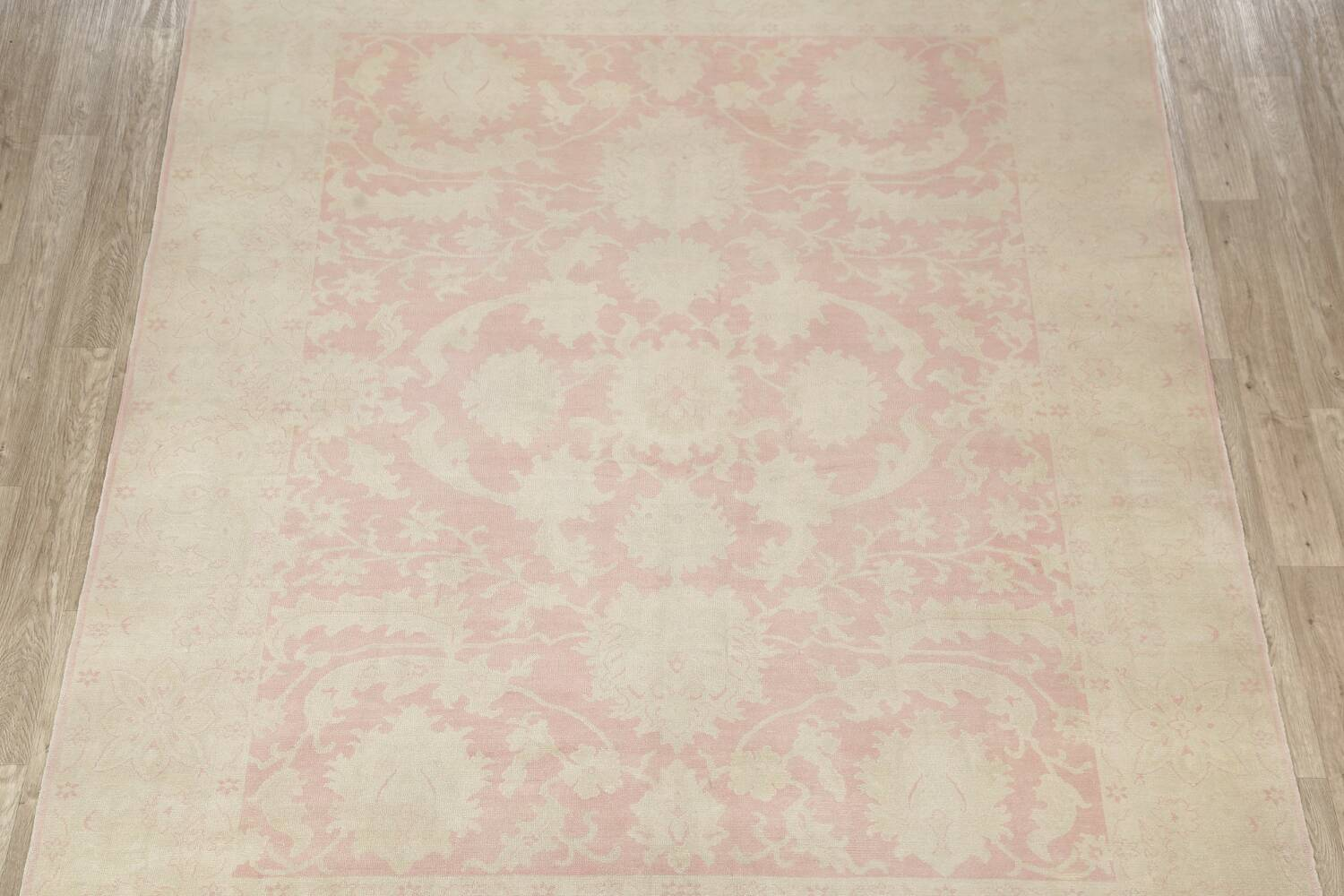 Antique Muted Floral Oushak Turkish Area Rug 8x10 image 3