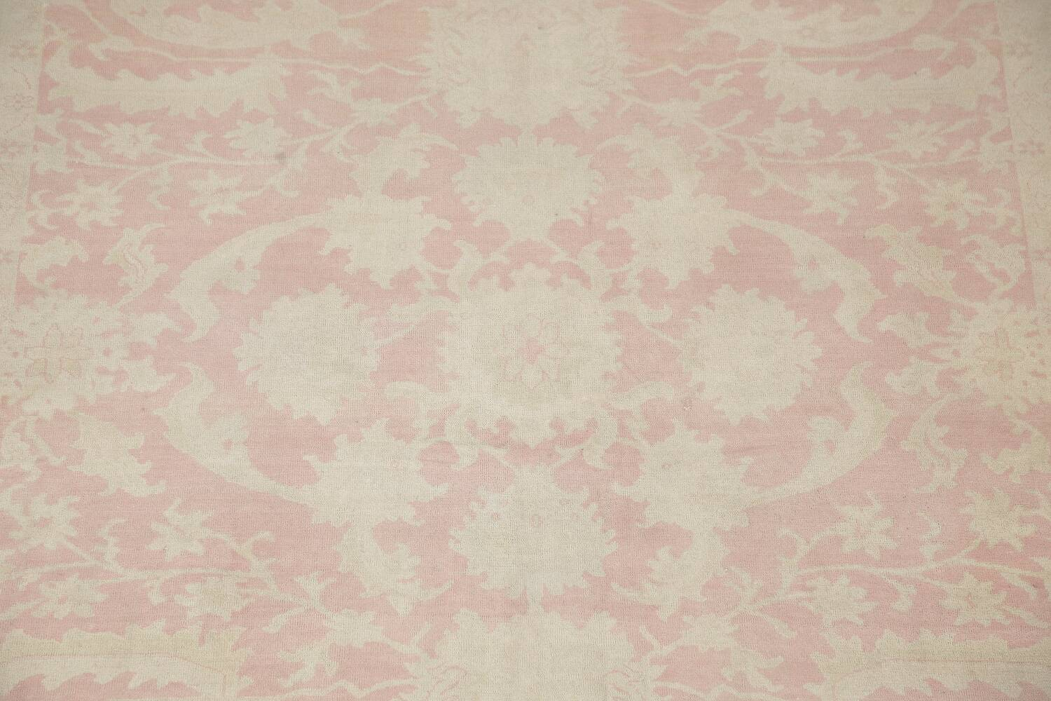 Antique Muted Floral Oushak Turkish Area Rug 8x10 image 4