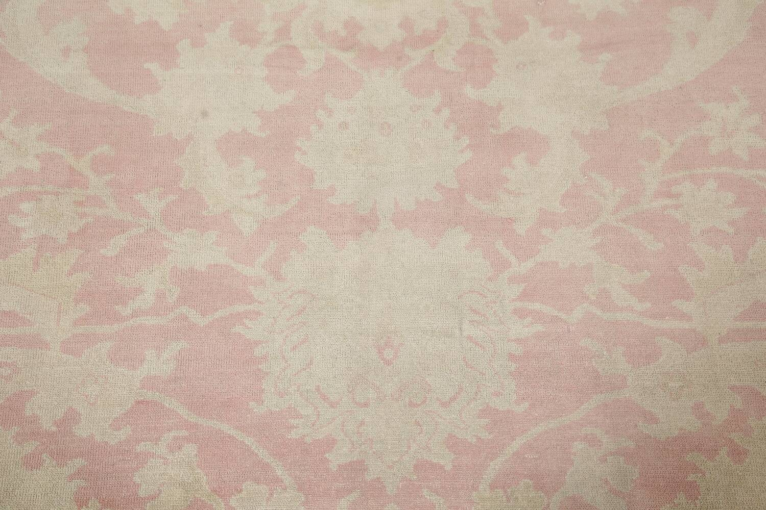 Antique Muted Floral Oushak Turkish Area Rug 8x10 image 11