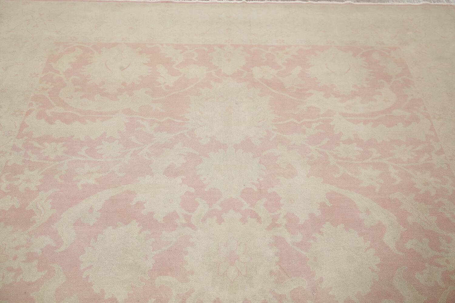 Antique Muted Floral Oushak Turkish Area Rug 8x10 image 13