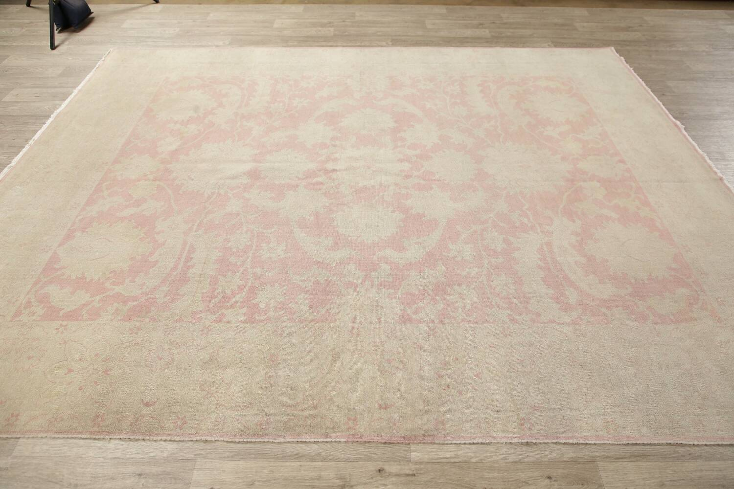 Antique Muted Floral Oushak Turkish Area Rug 8x10 image 15