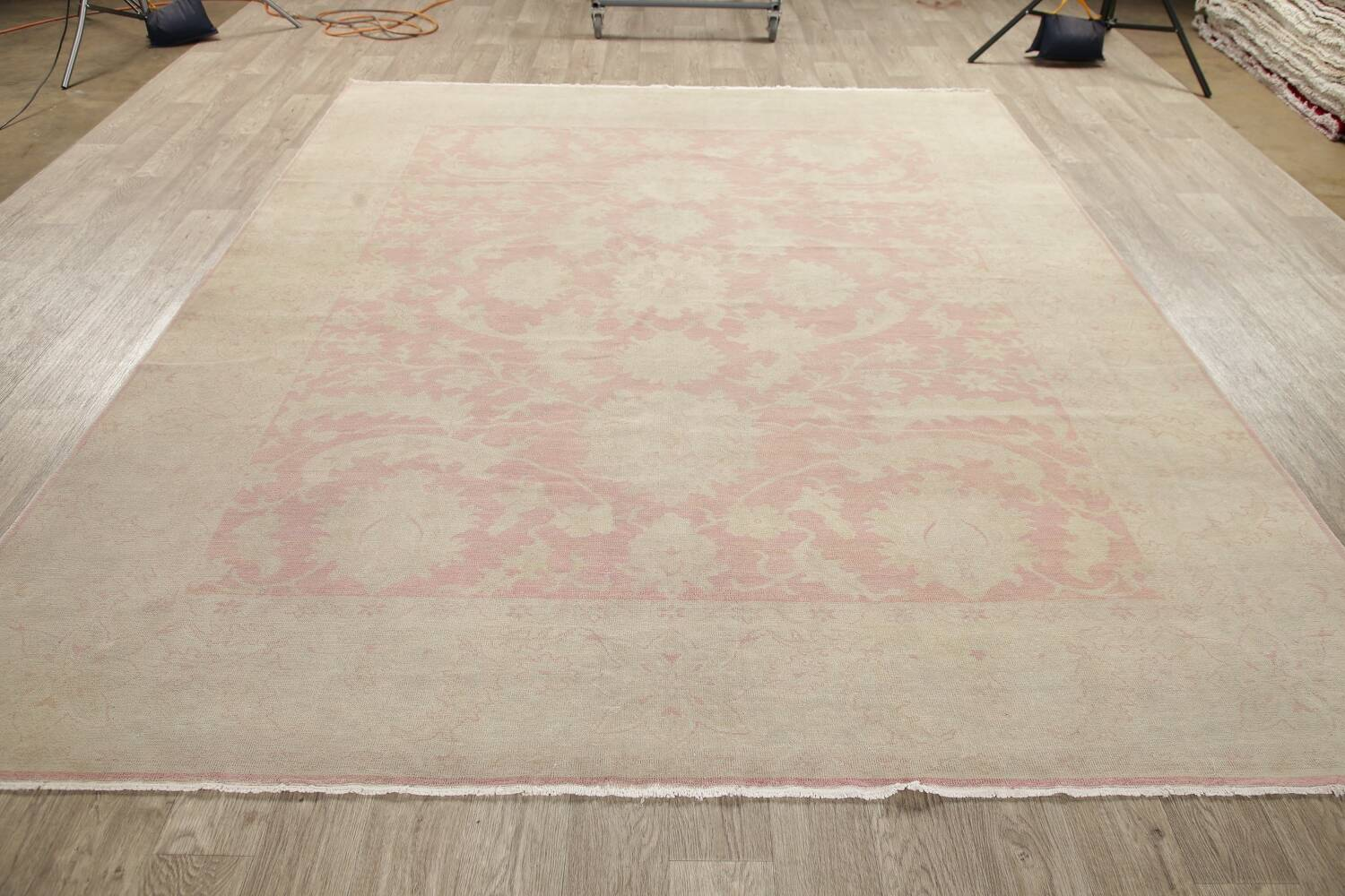 Antique Muted Floral Oushak Turkish Area Rug 8x10 image 16