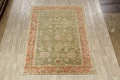 Antique Floral Oushak Green & Rust Oriental Area Rug 8x10 image 2