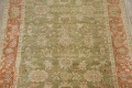 Antique Floral Oushak Green & Rust Oriental Area Rug 8x10 image 3