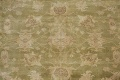 Antique Floral Oushak Green & Rust Oriental Area Rug 8x10 image 4
