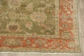 Antique Floral Oushak Green & Rust Oriental Area Rug 8x10 image 5