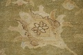 Antique Floral Oushak Green & Rust Oriental Area Rug 8x10 image 9
