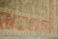 Antique Floral Oushak Green & Rust Oriental Area Rug 8x10 image 18