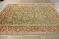 Antique Floral Oushak Green & Rust Oriental Area Rug 8x10 image 19
