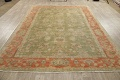 Antique Floral Oushak Green & Rust Oriental Area Rug 8x10 image 20