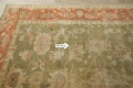 Antique Floral Oushak Green & Rust Oriental Area Rug 8x10 image 12