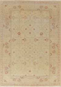 Antique Look Flora Oushak Turkish Area Rug 6x8